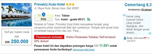 Promo-Primebiz-Kuta-Hotel