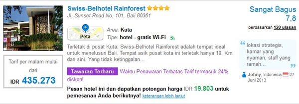 Promo-Swiss-Belhotel-Rainforest
